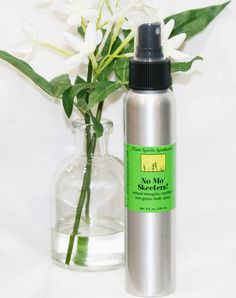 No Mo' Skeeters! Natural Mosquito Repellent - Non Greasy Body Spray 4 fl oz. Mosquito Control, Natural Mosquito Repellant, Citronella, Body Spray, Lemon Grass, Geraniums, Helpful Hints, Essential Oils, Water Bottle