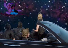 Final Fantasy XV: Car Meme - Aladdin and Jasmine   xD  hahaha!!