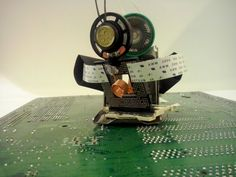 #phygitales #Phyci_Digi_Land #recycled_computer_parts #recycled_electronics #recycled_PCB #sculpture #animation #robots #upcycled #junkart #comics
