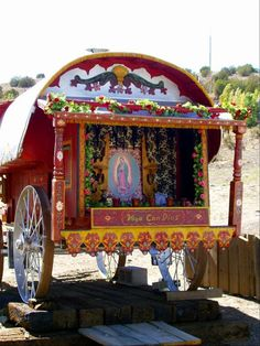 Gypsy Vardo Our Lady of Guadalupe~Image via enginemachining