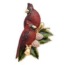 Joan Rivers Pave Cardinals Pin Joan Rivers Jewelry, Bird Jewelry, Holiday Jewelry, Corsages, Vintage Holiday, Vintage Brooches, Cardinals, Cos, Jewerly