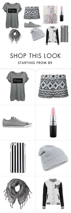 Relaxed by whitenoiseiswatching on Polyvore featuring Alice + Olivia, Converse, MICHAEL Michael Kors, Accessorize, Love Quotes Scarves and MAC Cosmetics
