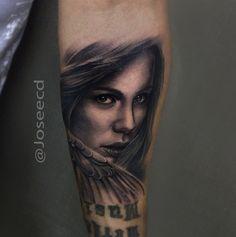Black & gray #girl Tattoo by Jose Contreras   Tattoo Hero