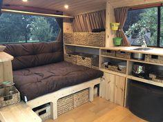 Innenausbau – Famous Last Words Trailers Camping, Minivan Camping, Camper Trailers, Rv Campers, Travel Trailers, Bus Camper, Camper Life, T4 Camper Interior Ideas, Campervan Interior
