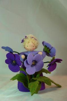 Pansy Flower Child Waldorf Inspired by KatjasFlowerfairys, €38.00