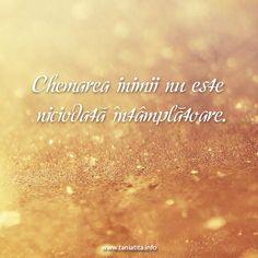Chemarea inimii nu este niciodata intamplatoare... http://taniatita.info/newsletter - Tania Tita #ascultatiinima #sinceritate #spiritualitate #autocunoastere #curaj #libertate