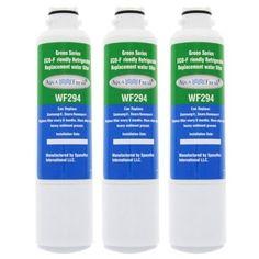 AquaFresh Replacement Water Filter for Samsung RH22H9010SR/AA Refrigerator Model (3 Pack), Blue aqua