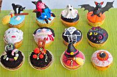 Helloween mix and match cupcake design
