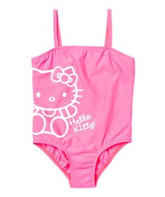 This Pink Hello Kitty One-Piece - Toddler & Girls is perfect! #zulilyfinds