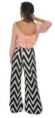 Walk This Way Chevron Pants in black and white - these pants are incredibly stylish AND comfortable!  Adorbs with any color top!