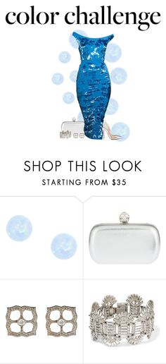"""""""Blue and silver"""" by paolanoel on Polyvore featuring Christian Louboutin, Alexander McQueen, Sara Weinstock and Ben-Amun"""