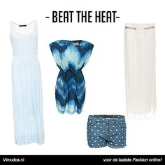 Beat the Heat met deze luchtige items van Vimodos!   Maxi dress: http://www.vmds.nl/mU Jurkje: http://www.vmds.nl/mV Short: http://www.vmds.nl/mX Maxi skirt: http://www.vmds.nl/mW
