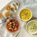 Easy Summer Tomato Gazpacho in Your Blender + 4 delicious variations! Healthy Menu, Healthy Diet Recipes, Healthy Food Choices, Healthy Foods To Eat, Healthy Cooking, Vegetable Recipes, Healthy Eating, Vitamix Recipes, Korma