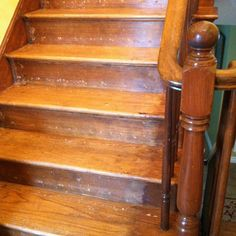 Reconditioning or refinishing wood staircase