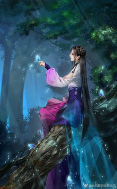 Fantasy Warrior, Fantasy Girl, Chinese Drawings, Beautiful Fantasy Art, Fantasy Paintings, China Art, Dragon Art, Anime Art Girl, Female Art