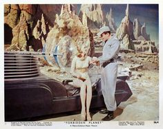 Forbidden Planet lobby card. Jerry hits on Altaira. Who could blame him?