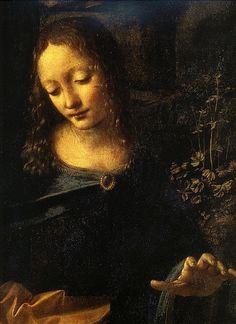 Leonardo.Madonna of the rocks.c.1484.Virgin.[Louvre] | Flickr