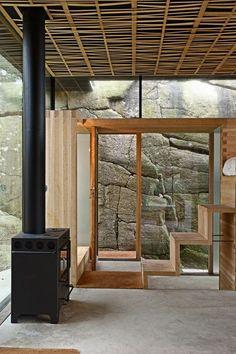 In dit compacte vakantiehuis lopen binnen en buiten naadloos in elkaar over - Roomed