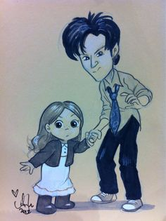 Amelia Pond & the Raggedy Doctor. Gift for Tara @c2e2