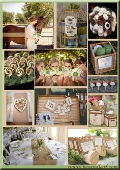 French country Wedding board
