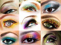 ¿Cómo Combinar un Maquillaje de Colores para los Ojos? por maquillajebellezamujer.blogspot.com