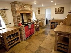 I want this AGA kitchen Aga Kitchen, Kitchen Units, Country Kitchen, Kitchen Ideas, Peak District Cottages, Holidays In England, Farm Cottage, Hearth And Home, Holiday Accommodation
