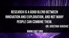 Papers published in IJAET will receive very high publicity and acquire very high reputation. Efforts are being made so that the papers published will be indexed by databases Research, Effort, Innovation, Paper, Quotes, Qoutes, Dating, Exploring, Quotations