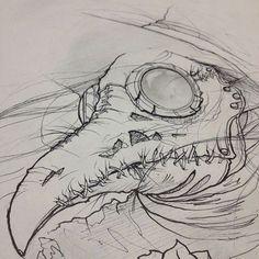 Sketch for a plague doctor piece idéia desenho Arte Horror, Horror Art, Inspiration Art, Art Inspo, Pencil Drawing Inspiration, Drawing Sketches, Cool Drawings, Art Sinistre, Art Noir