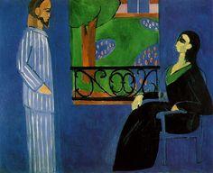 Conversation by Henri Matisse - Paintings from Hermitage Museum Henri Matisse, Musée Matisse Nice, Matisse Kunst, Matisse Art, Matisse Paintings, Raoul Dufy, Most Famous Paintings, Franz Kline, Hermitage Museum