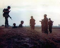 December 25, 1966   In Hau Nghia Province 20 miles NW of Saigon (2 km from Cu Chi and 3/4 mile from Bob Hope's Show), a 25th Infantry Division patrol recieved fire from three of the enemy. US returned fire. There were no friendly casualties. Enemy losses were two enemy killed, two individual weapons and one russian-made radio.