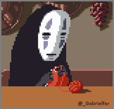 A peaceful No Face, after all… An animated Studio Ghibli gif by Cool Pixel Art, Anime Pixel Art, Anime Art, Aesthetic Art, Aesthetic Anime, Pixel Art Background, 8 Bit Art, Pix Art, Pixel Animation