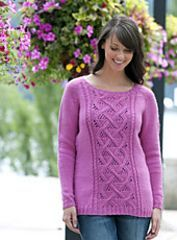 free Ravelry: Winter Rose Sweater pattern by Vera Sanon