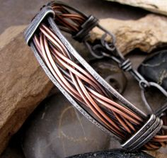 Mens Iron and Copper Bracelet. $32.00, via Etsy.