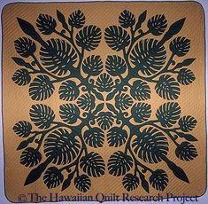 Hawaiian Quilt Patterns, Hawaiian Pattern, Hawaiian Quilts, Hawaiian Art, Applique Designs, Quilting Designs, Cat Quilt, Quilt Art, Quilt Stitching
