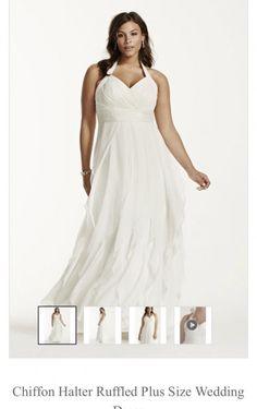 Galina+Woman+Chiffon+Ruffled+Wedding+Gown