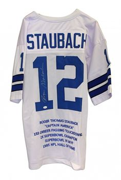 e3e3a9486f8 AAA Sports Memorabilia LLC - Roger Staubach Dallas Cowboys Autographed  Throwback Jersey With his Career Highlights