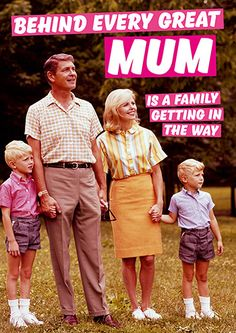 Behind Every Great Mum Funny Birthday Card #FunnyCards #BirthdayCards #DeanMorrisCards #LOL #RudeCards #GreetingCards  #FunnyBirthdayCards