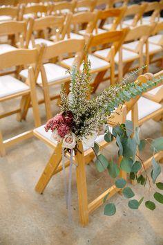 #Fall Wedding | #Aisle Decor | See the wedding on SMP - http://www.StyleMePretty.com/2014/01/22/fall-blue-hill-farm-wedding/ Tory Williams Photography