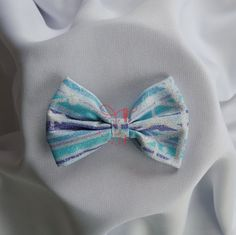Glitter Frozen Inspired Bowtie, Hairclip, Hairband by PerfectlyCraftedByT
