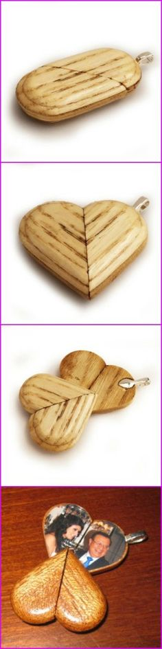 Illusionist Locket is a really romantic wooden anniversary gift idea!
