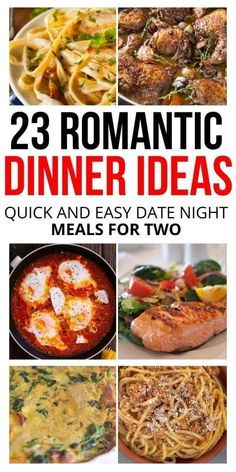 Dinner Recipe Ideas For Date Night - The Purposed Plan - date night food. - Try these easy dinner recipes to spice up your date night. From pasta to seafood, you're sure to f - Easy Romantic Dinner, Romantic Dinner Recipes, Romantic Meals, Romantic Food, Unique Dinner Ideas, Romantic Dates, Romantic Gifts, Dinner Date Recipes, Date Dinner