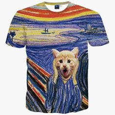 44e34080c6dc2 Alisister New Fashion Women men Funny Cat T Shirt Print Animal T-shirt Casual  Mens Cartoon T Shirt Fighting Cat Tee Shirts