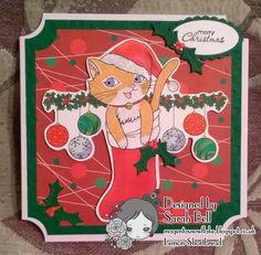 Designed by Sarah Bell for Lemon Shortbread using Christmas Kitty Cat