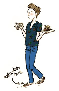 …and here is a sketch of the waiter at Black Hoof (Toronto)