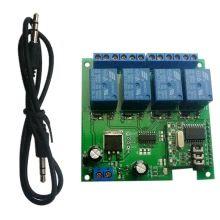 12V 4CH Audio Decoding Relay DTMF Self-locking Interlock Delay Smart Home Switch