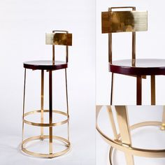 Bar Stool - Polished Brass :: GER Architectural Manufacturing, Inc.