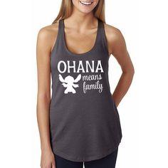 Ohana Means Family // Lilo & Stitch Shirt // Disney T-Shirt // Disney Adult Tank Top // Disney Clothing // Ohana Shirt // Disney Apparel