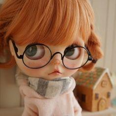 *** Custom Blythe *** glasses *** Buy her here: #blythe #blythedolls #kawaii…