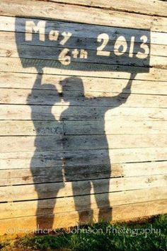 Cardboard Cut Out Shadow Save The Date Photo Idea. 27 Cute Save the Date Photo Ideas Wedding Photoshoot, Wedding Pics, Wedding Bells, Wedding Engagement, Engagement Photos, Our Wedding, Dream Wedding, Wedding Ceremony, Country Engagement