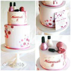 nail polish girly cake